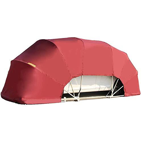 Faltgarage Für Sonnenschutzmittel Im Freien, Teleskopierbarer Unterstand Für Mobile Autos, Einfacher Parkschuppen, Zusammenklappbarer Carport, Haushaltsparkschuppen,Rot