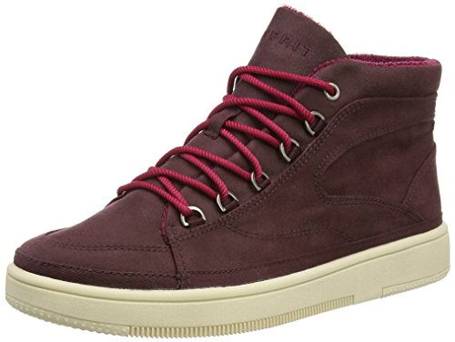 ESPRIT Desire Bootie, Damen Sneakers, Rot (600 bordeaux red), 38 EU