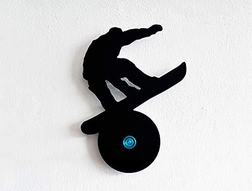 Snowboarden Silhouette-Wandhaken/Kleiderhaken/Schlüsselhalter