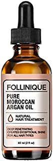 100% PURE MOROCCAN ARGAN OIL by FOLLINIQUE - Natural Nutrition For Hair And Skin, Lush Shine And Soft Healthy Hair
