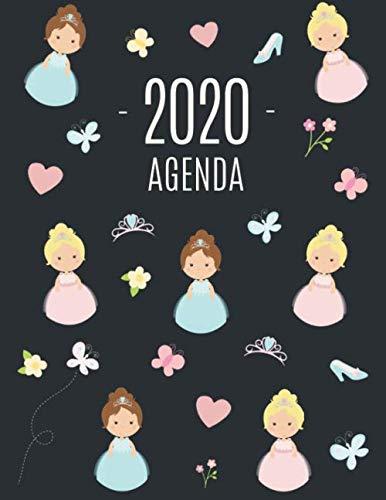 Princesse Agenda 2020: Planificateur Mensuel | Janvier à Décembre 2020 | Pour l'Organisation à la Maison ou au Bureau