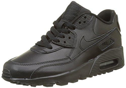 NIKE Air Max 90 Leather (GS), Scarpe da Ginnastica Uomo, Nero (Black/Black 001), 39 EU
