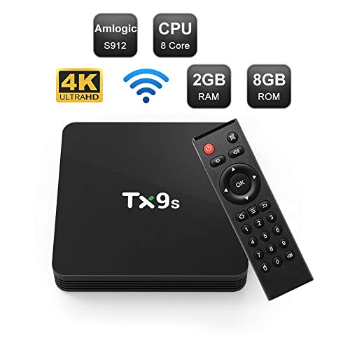 Android 7.1 TV Box Octa Core, Amlogic S912 Android TV Box WiFi 2.4GHz, 2GB RAM 8GB ROM 4K 3D UHD H.265