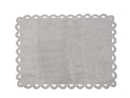 Aratextile. Tapis pour enfant 100% coton lavable en machine Collection Versalles Gris 120 x 160 cm