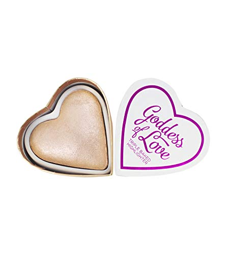 Makeup Revolution London Heart Makeup - Highlighter - Blushing Hearts - Goddess Of Love, Nude