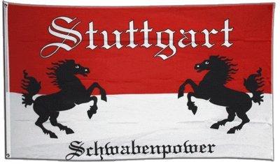 Flaggenfritze Fahne/Flagge Stuttgart Schwabenpower 2 + gratis Sticker