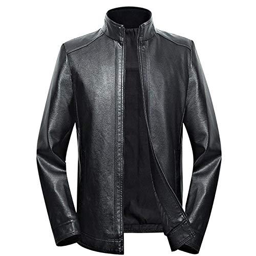 Más tamaño hombres chaqueta de cuero 5XL 6XL 7XL primavera y otoño cremallera masculina piel de oveja outwear