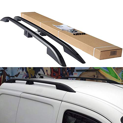 Bremer Sitzbezüge - Baca de aluminio para techo, color: negro mate