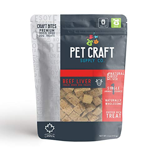 Pet Craft Supply Freeze Dried Dog Treats and Cat Treats - Naturally Wholesome Grain Free Single Animal Source Protein Rich Treats