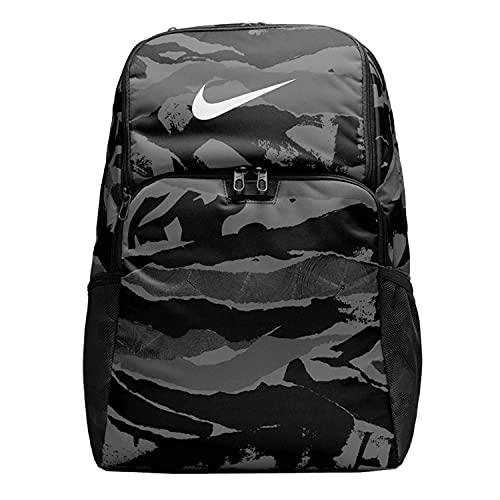 Nike Mochila Brasilia Printed XL 30 litros, color negro militar Printed CU9648-010