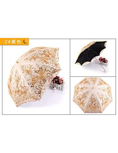 KDLVJ Ombrello Ombrello Trasparente In Plastica Nera Doppio Parasole In Pizzo Doppio Ombrello Ombrello Pioggia Femminile, Come Foto1