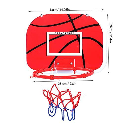 Kinder Basketball Set Mini Basketball Plate Hoop und Pumpe für Kinder (Haken + Klebstoffhaken)