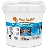 Tecno Prodist Sal Piscinas Sal Especial para la cloración Salina de Piscinas, SPA o Jacuzzis - En Cubo de 12 kg Fácil Aplicación