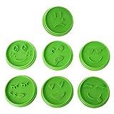 Girasool 7Pcs Emoji Gesicht Plätzchenform, Chocolate Biscuit Cutter Tool