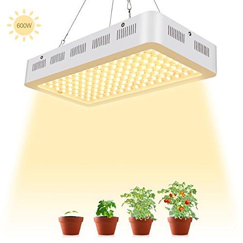 TOPLANET 600W Lampe pour Plante Culture LED Full Spectrum 120 * 5W Horticole Floraison Blanc Chaud pour Indoor Grow Box pour Plante Fruit végétale