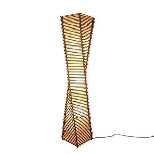 Lámpara de pie Viqie para salón, de bambú, de estilo japonés, de bambú asiático, iluminación decorativa