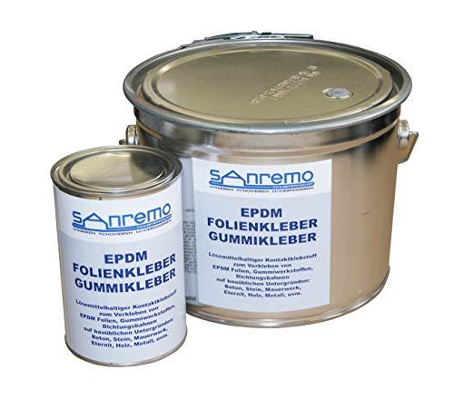 EPDM-folie, rubberlijm, contactlijm, 4 kg emmer + 800 g doos