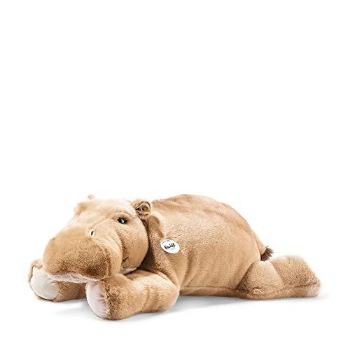"""Steiff 85352 Original Plüschtier Nilpferd Mocky, Kuscheltier ca. 80 cm, Markenplüsch Knopf im Ohr"""", Schmusefreund für Babys von Geburt an, Graubraun"""