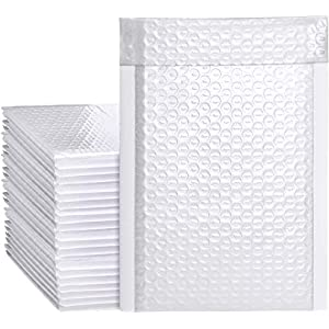Metronic White Bubble Mailers 25 Pack, 8.5×12 Bubble Poly Mailers, Self-Seal Shipping Bags, Padded Envelopes, Bubble…