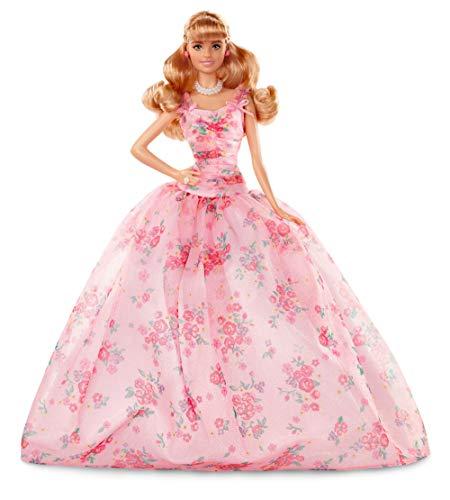 Barbie FXC76 - Signature Birthday Wishes Puppe im rosafarbenen Kleid, Collector Puppen und Puppenzubehör Spielzeug ab 6 Jahren