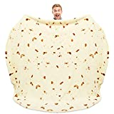 Zulay (60-80 inches) Giant Double Sided Burrito Blanket - Novelty Big Burrito Blanket for Adult and Kids - Premium Soft Flannel Round Tortilla Blanket for Indoors, Outdoors, Travel, Home and More