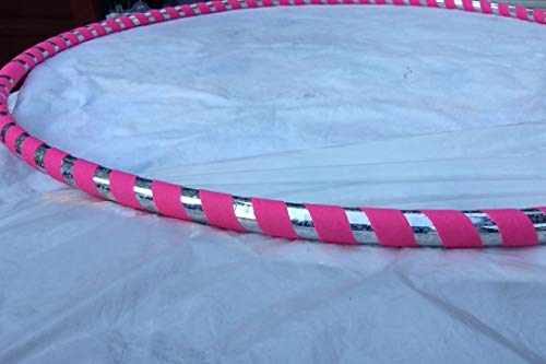 Adult 1 lb. Hula Hoops Pink Light Weight Fitness Dance Workout Exercise - Perfect for Hoop Dance and Off-Body moves Advanced Hoopers Weight Medium 38 inches round. Get Your Middle Little!