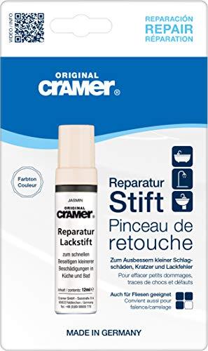 Cramer 15222DE Reparatur-Lackstift Email, Acryl, Keramik, jasmin matt - Sanitärlack zum Ausbessern kleinerer Schäden an Badewannen, Duschwannen, Waschbecken und Fliesen