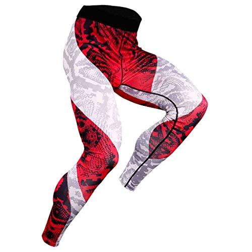 Herren Leggings Sport Hose Unterhose Männer Strumpfhose Joggingpants Elastic Compression Pants Fast Drying Trousers Leggings Unterwäsche Herrenleggings