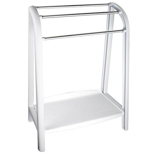 Tatay 4437001-Spa Toallero de pie con 3 Barras Porta Toallas, Plástico Polipropileno y Aluminio, 56,5 x 27 x 82 cm, Blanco, 56x27x82 cm