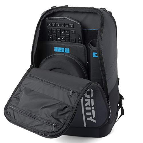 ORITY ONE: Hochwertiger Laptop Rucksack 17,3 Zoll für Business, Gaming & Esport   Designed in Germany   Gaming Rucksack   Recycelt   Handgepäckgröße   Wasserabweisend   35 Liter
