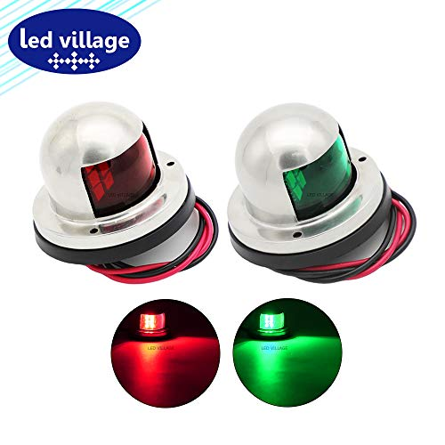 Affordable [Pack of 2] LedVillage 2.5 Inch Green & Red Clearance Lamp Navigation Light Marine Pontoo...