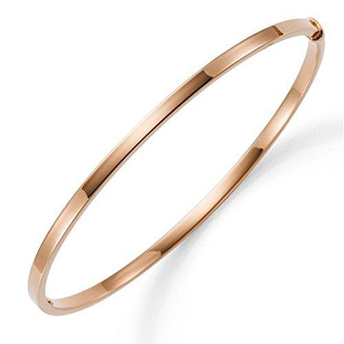 Armreif Armband Armschmuck aus 585 Gold Rosegold 3mm breit flach Goldarmreif
