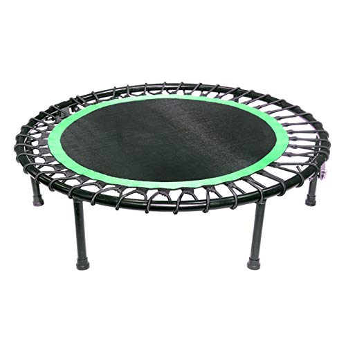 Pinle 40' Trampoline, Mini Trampoline, Fitness Trampoline, Stable & Quiet Exercise Rebounder for Kids Adults Indoor/Garden Workout, Max.Load 330lbs. (Color : Green)