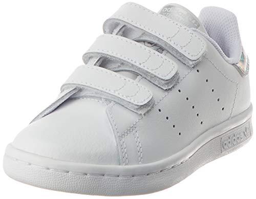 adidas Stan Smith CF C, Chaussures de Running Compétition Mixte Enfant, Multicolore (FTWR White/FTWR White/Core Black Ee8484), 35 EU