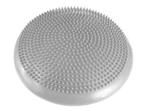 FFitness Cushion, Balance Pad-Cuscino Propriocettivo Gonfiabile per Fisioterapia e Riabilitazione Tutti, Grigio, 34 cm