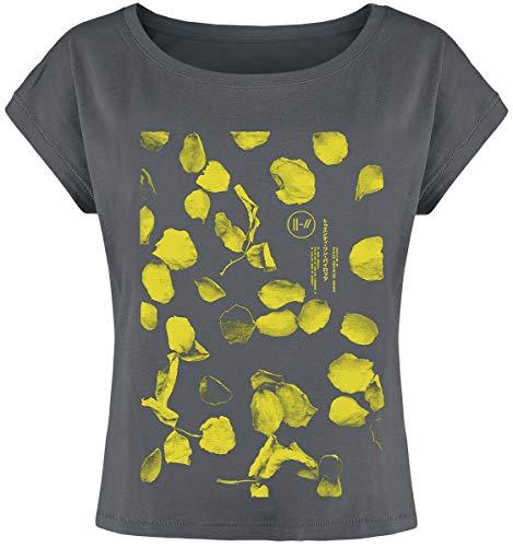 Twenty One Pilots Flower Petals Mujer Camiseta Gris Marengo L, 100% algodón, Ancho