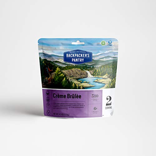 Backpacker's Pantry Creme Brulee, 2 Servings Per Pouch, Freeze Dried Food, 7 Grams of Protein, Vegetarian, Gluten Free