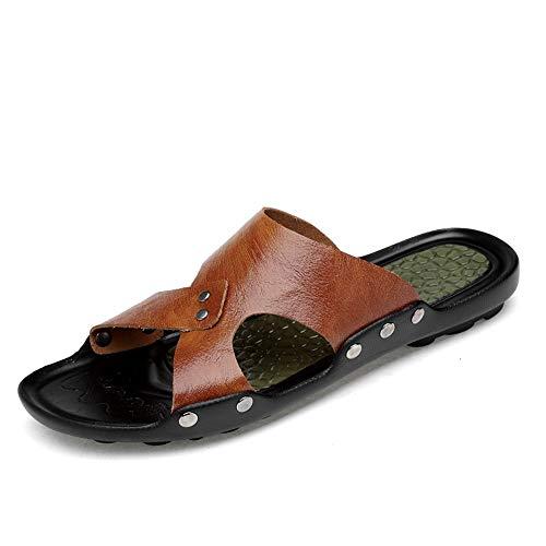Xingyue Aile Pantoffels en sandalen van microvezel, voor heren, waterbestendig, sneldrogend, antislip, plat, open, voor