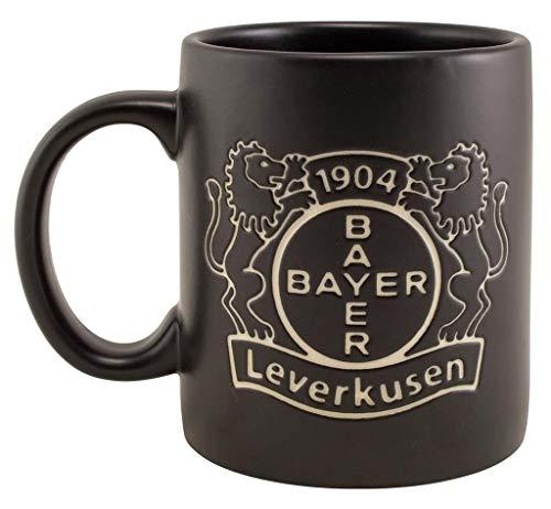 Bayer 04 Leverkusen Tasse - Logo Prägung - Kaffeetasse, Kaffeepott, Mug - Plus Lesezeichen Wir lieben Fußball