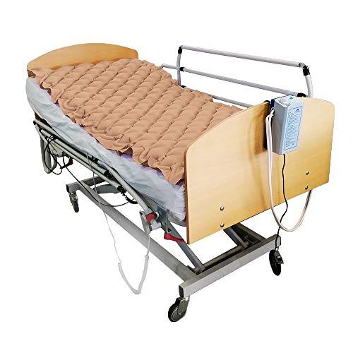 Colchón antiescaras de aire, Con compresor, PVC médico ignífugo, 200 x 90 x 7, 130 celdas, Beige