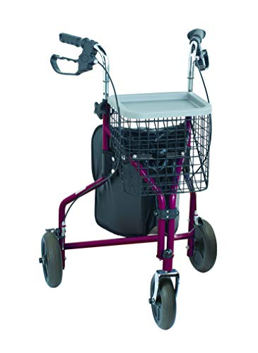 Nottingham Rehab Supplies M91139 NRS Rollator, 3 rollen, rood