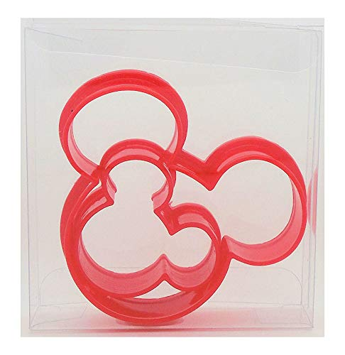 Cortador de galletas con forma de orejas de Mickey Mouse, 2 unidades