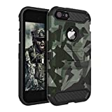 iPhone 5S Case,iPhone 5 Case,iPhone SE Case Huatrk Kickstand Heavy Duty Shockproof Protective Camo Cover for...