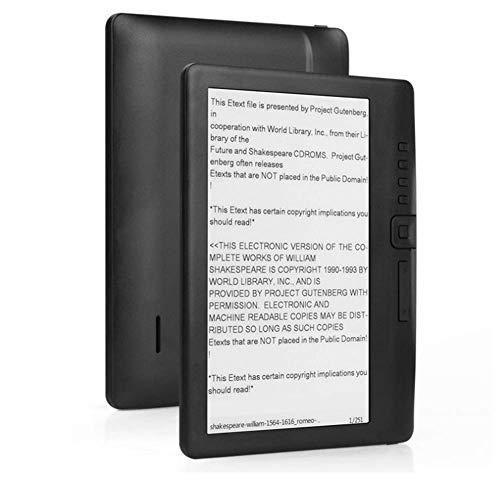 Lector de Libros Electrónicos, Lector Portátil de Libros Electrónicos de 7 Pulgadas, Pantalla Colorida Compatible con Tarjeta TF de hasta 16 GB de Almacenamiento(8GB)