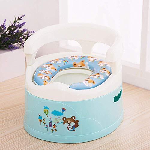 JYFLY Baby Kinder Töpfchen Toilettensitz Stuhl Urinal Tragbar mit Spritzschutz und Griff Rückenlehne