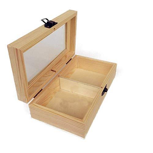 WUYUESUN Aceites Esenciales en Caja de Madera Hecha a Mano Aceites Esenciales Caso Compatible with Presentaciones Protege su Aceites de la luz Solar Dañar