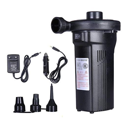 Bomba de aire eléctrica, Quick-Fill inflador/deflactor con 3 boquillas para balsas, botes, colchón de aire, piscinas enchufe de la UE