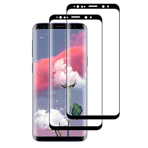 XSWO [2 Stück Galaxy S8 Plus/ S8+ Panzerglas Schutzfolie, Gehärtetes Glas Displayschutzfolie 3D Vollständige Abdeckung 9H Härte Bläschenfrei Kratzfeste Glas Displayschutz für Galaxy S8 Plus/ S8+
