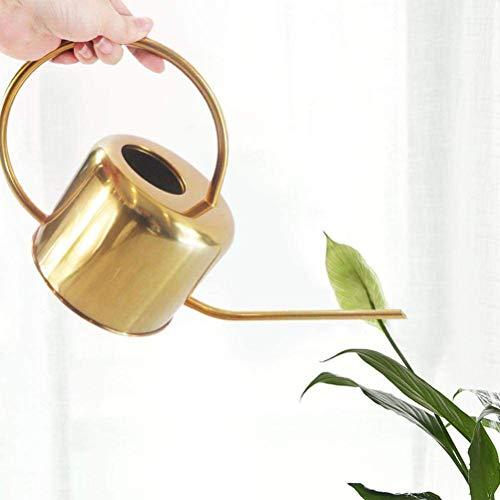 Smosyo Edelstahl Innenbewässerung kann Lange Ausguss für Bewässerungspflanzen Blumengärten Innen- und Außenanlagen