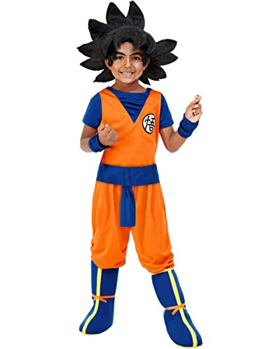 Funidelia | Disfraz de Goku - Dragon Ball Oficial para niño Talla 7-9 años ▶ Son Goku, Bola de Dragón, Anime, Saiyan - Naranja